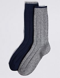 2 Pack Wool Rich Thermal Socks