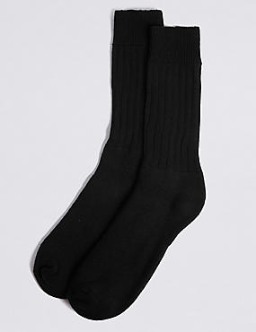 2 Pack Cotton Rich Thermal Socks