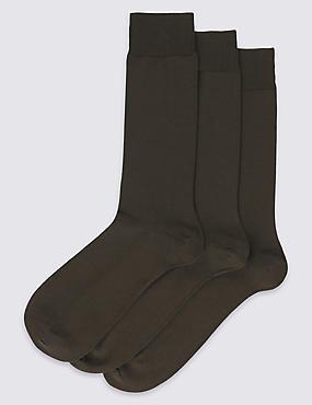 3 Pack Luxury Egyptian Cotton Rich Socks