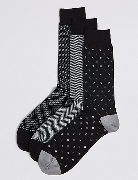 3 Pack Cotton Rich Socks