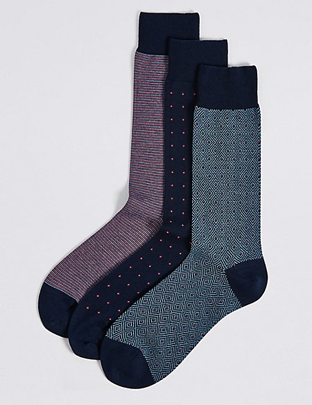 3 Pack Luxury Egyptian Cotton Socks