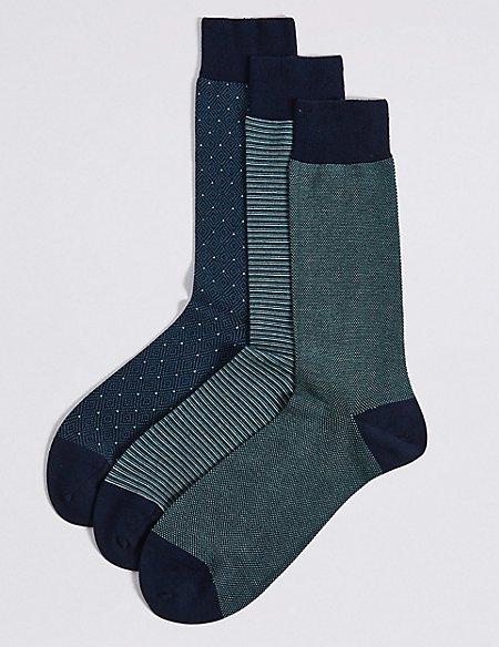 3 Pack Egyptian Cotton Luxury Socks