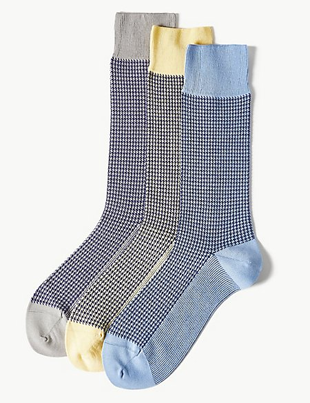 3 Pack Luxury Egyptian Cotton Rich Socks