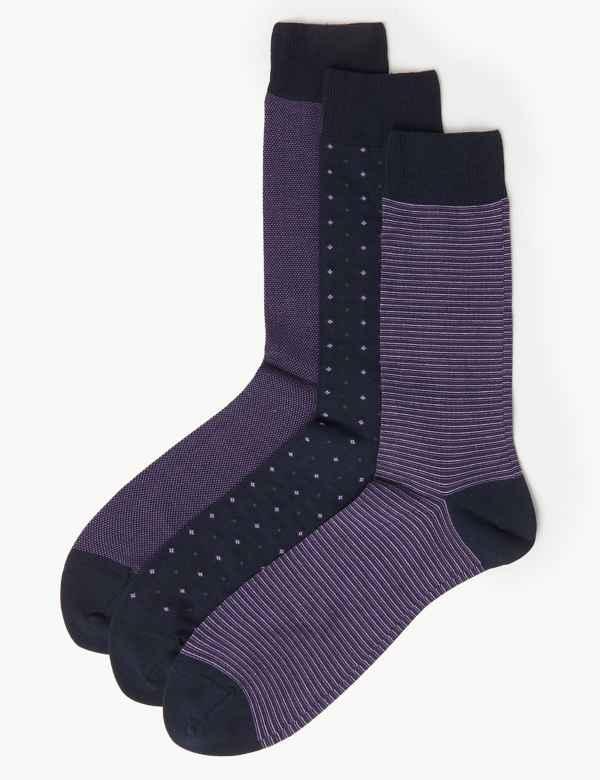 65818ad4e20b5 3 Pack Luxury Egyptian Cotton Socks