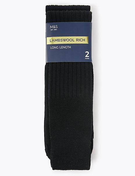 2 Pack Long Length Socks