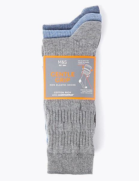 3 Pack Cotton Gentle Grip Socks