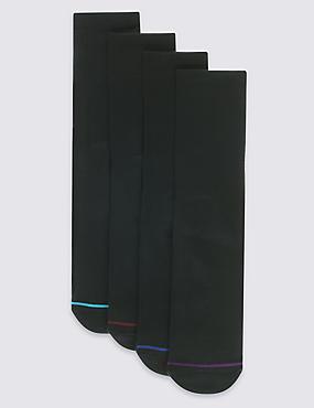 4 Pack Cotton Modal Comfort Socks