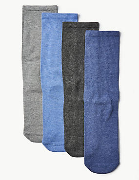 4 Pack Cotton Blend Freshfeet™ Socks