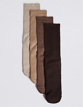 4 Pack Cotton Blend Freshfeet™ Socks
