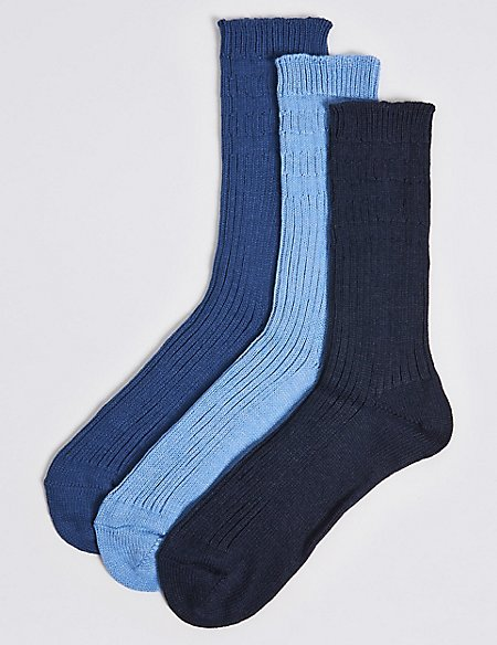 3 Pairs Of Gentle Grip Chunky Socks