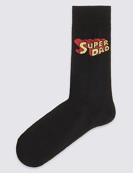 Super Dad Cotton Rich Socks