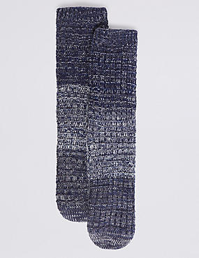 Chunky Pearl Stitch Slipper Socks