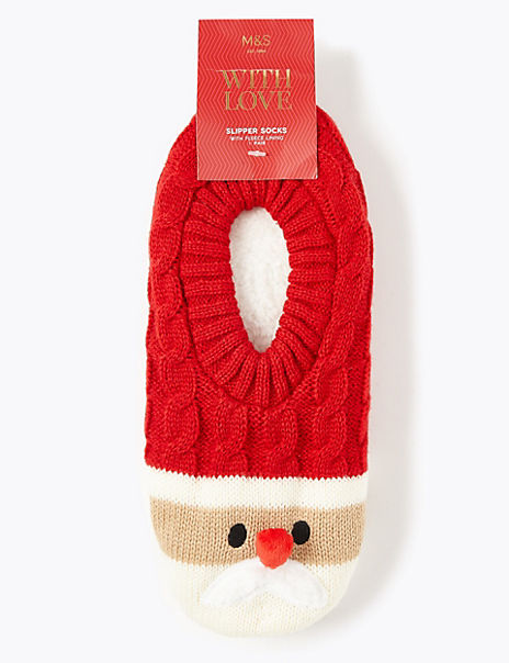 Cool & Fresh™ Santa Slipper Socks