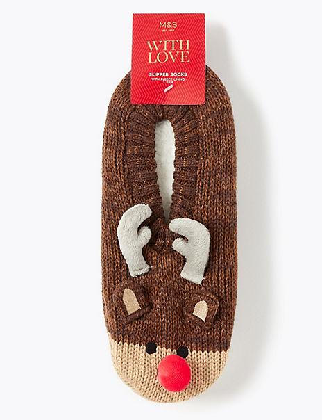 Cool & Fresh™ Rudolph Slipper Socks