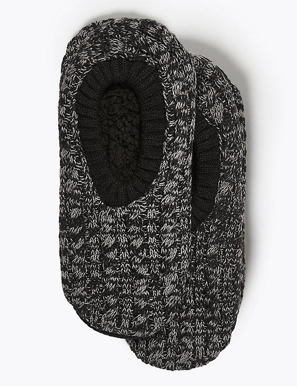 Fleece Twist Slipper Socks