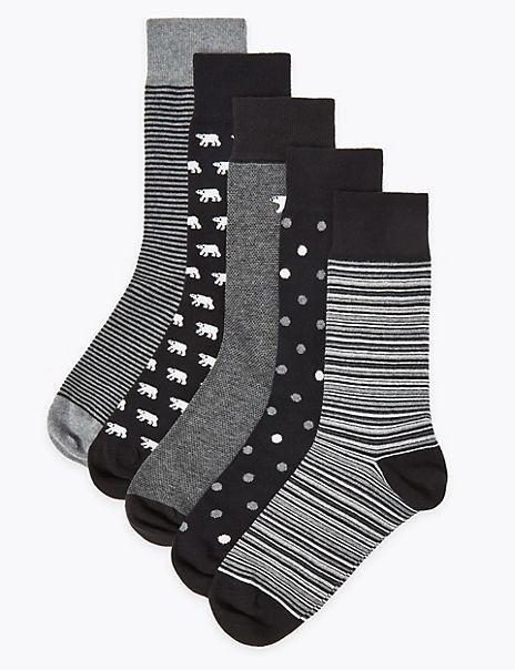 5 Pack Cool & Fresh™ Polar Bear Socks
