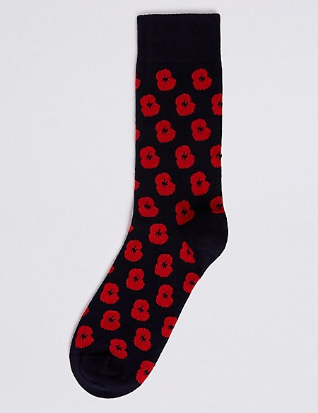 The Poppy Collection® Cotton Rich Socks