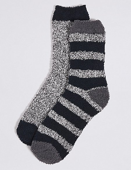 2 Pack Assorted Bed Socks