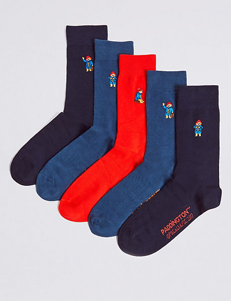 Paddington™ 5 Pairs of Cotton Rich Socks