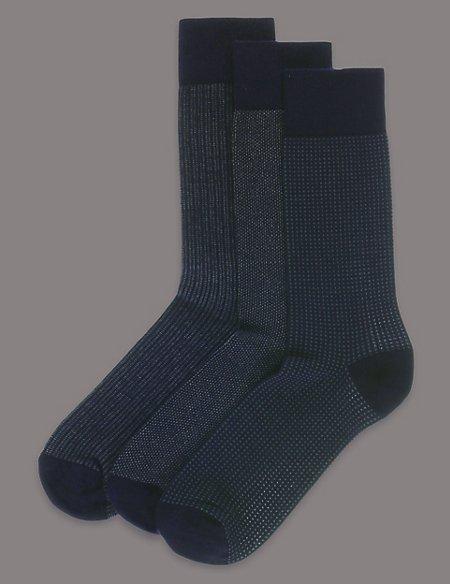 3 Pairs of Modal Blend Socks
