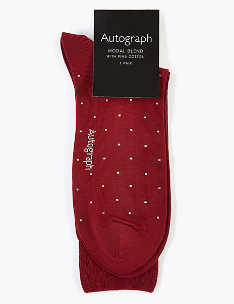Modal Pima Cotton Polka Dot Socks