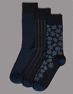 3 Pack Socks with Cotton