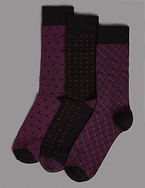 3 Pack Assorted Socks
