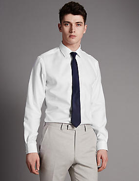 2in Longer Pure Cotton Tailored Fit Shirt