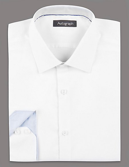 2in Shorter Supima® Cotton Basket Weave Shirt