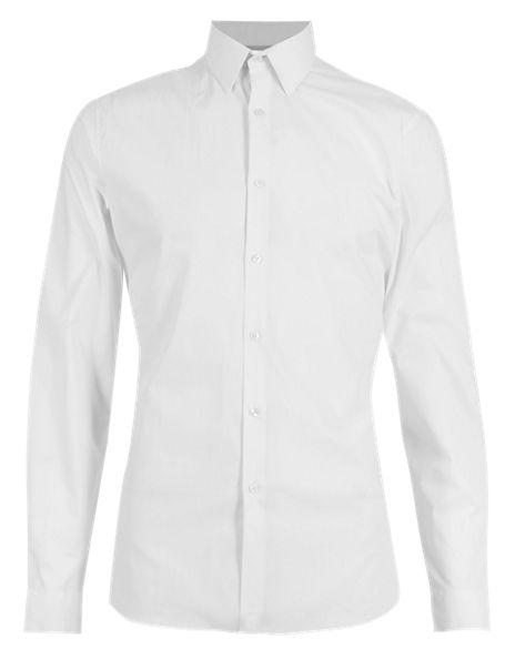 Super Slim Fit Forward Point Collar Stretch Shirt
