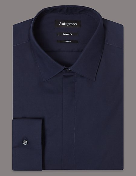 Cotton Rich Tailored Fit Shirt