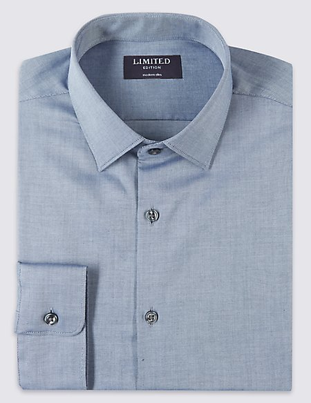 Pure Cotton Modern Slim Fit Shirt