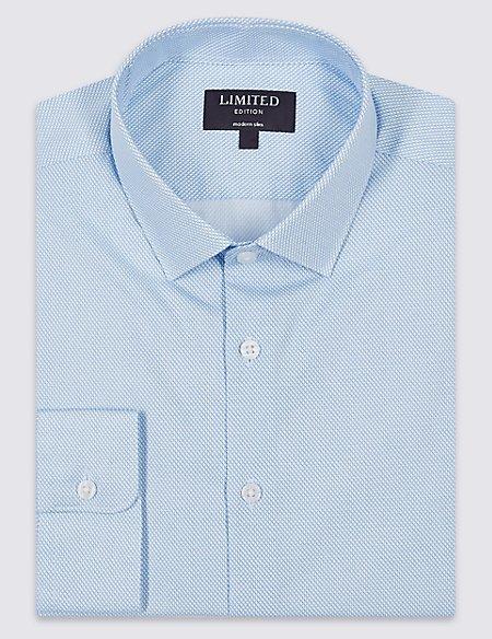 Pure Cotton Modern Slim Fit Shirt