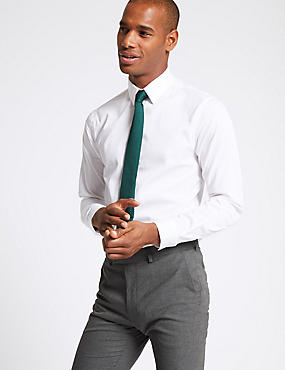 Cotton Rich Skinny Fit Shirt