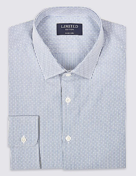 Pure Cotton Skinny Fit Shirt