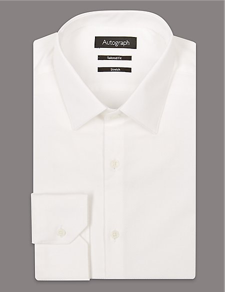 2in Longer Cotton Rich Tailored Fit Shirt