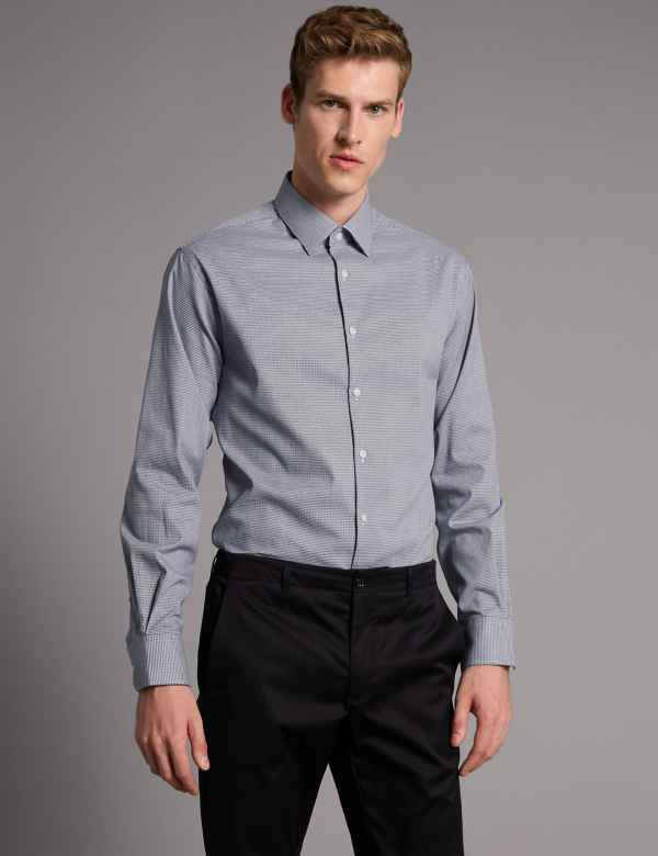 2in Longer Cotton Rich Tailored Fit Shirt 212416c7b30