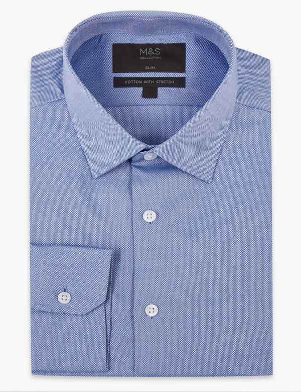 ex M/&S Shirt Marks /& Spencer Long Sleeve Roll Up Sleeves Utility Shirt