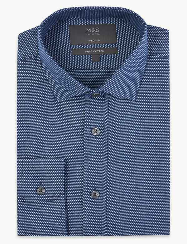 d053e307 Pure Cotton Easy to Iron Tailored Fit Shirt