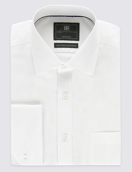 Pure Cotton Non-Iron Twill Tailored Fit Shirt