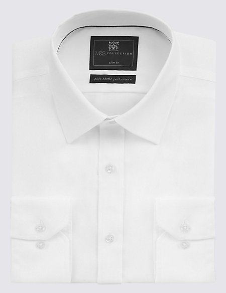 Pure Cotton Non Iron Slim Fit Shirt