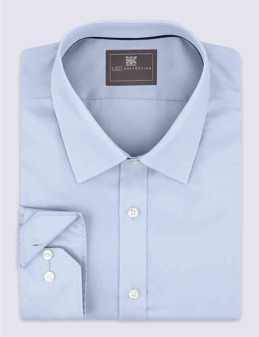 6bce5658f826 Pure Cotton Non-Iron Twill Slim Fit Shirt