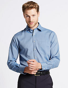 2in Longer Non-Iron Regular Fit Oxford Shirt