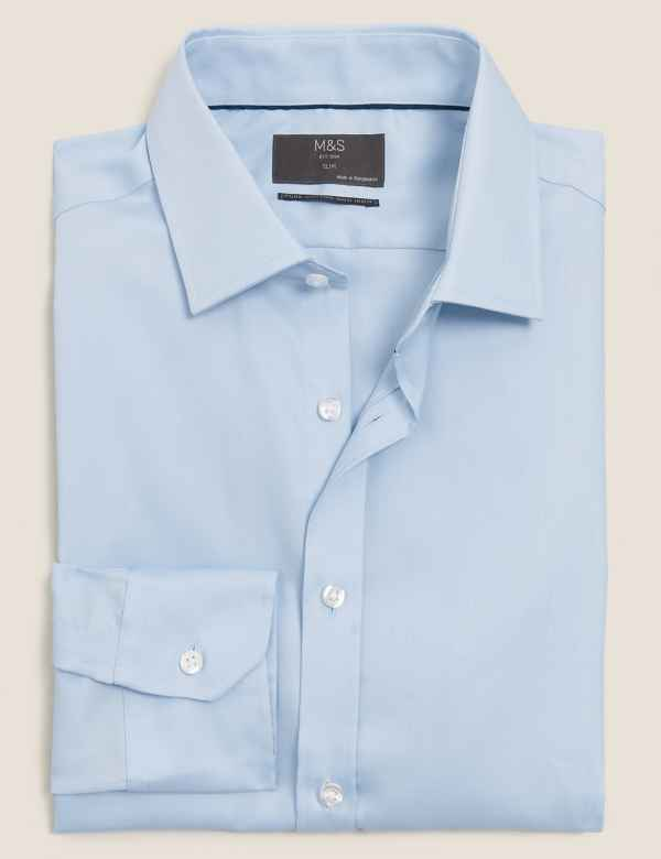 0e0afb5c Mens Non Iron Shirts | Performance Shirts For Men | M&S