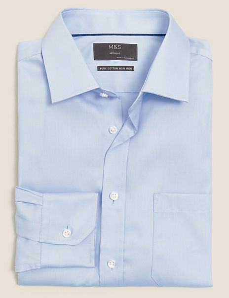 Regular Cotton Twill Non-Iron Shirt