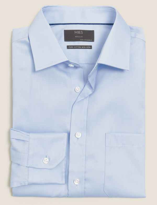 06fa0d94a2e5 Mens Shirts | Check & Denim, Short & Long Sleeve Shirts | M&S