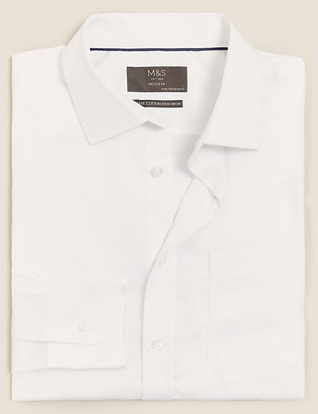 Shorter Length Regular Fit Twill Shirt