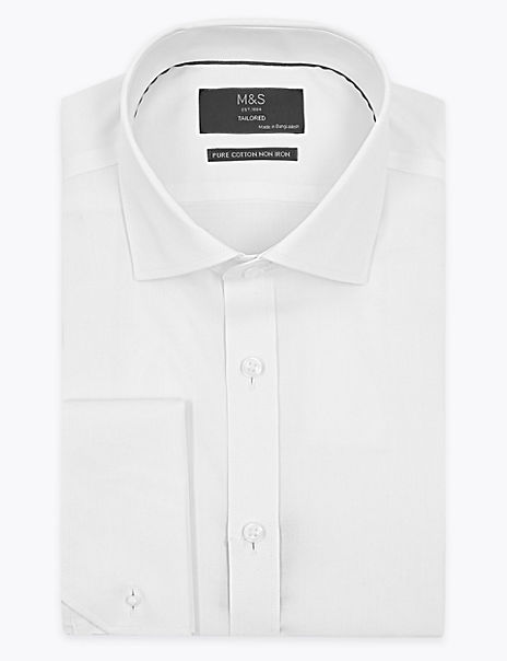 Pure Cotton Tailored Fit Twill Non-Iron Shirt