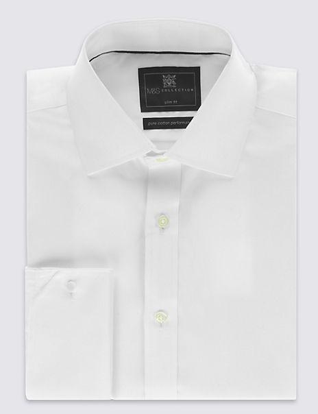 Pure Cotton Non-Iron Twill Slim Fit Shirt