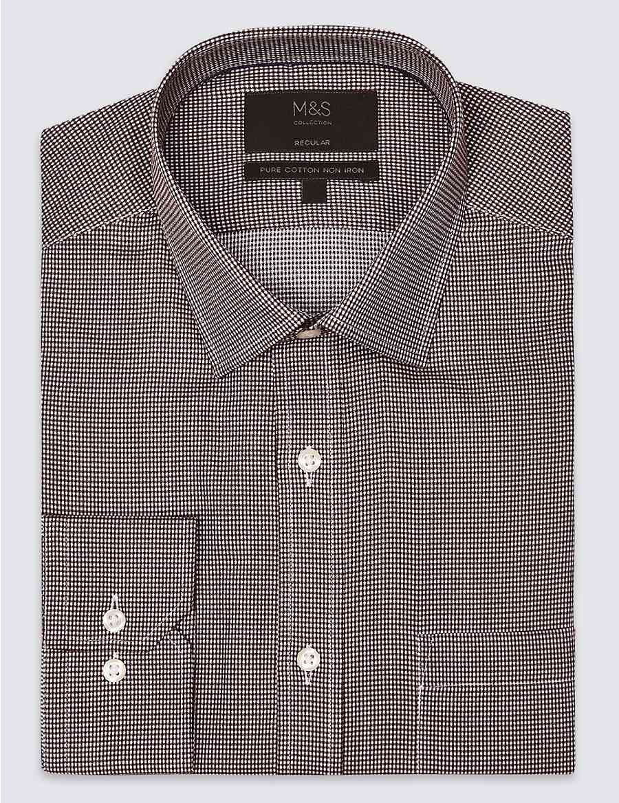 3e88bed3c5b3 Pure Cotton Regular Fit Non-Iron Shirt